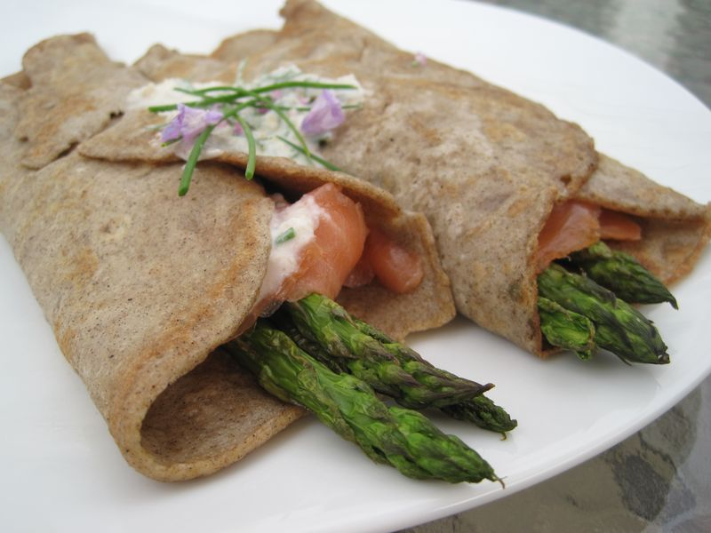 Gluten-free, Dairy-free Buckwheat Crepes with Lox and Horseradish ...