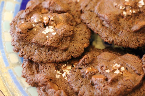 Double Chocolate Sea Salt Cookies from www.exquisitedish.com